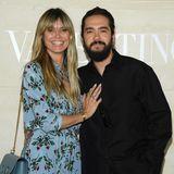 Heidi Klum und Tom Kaulitz geben ein hübsches Paar vor der Show von Valentino ab.