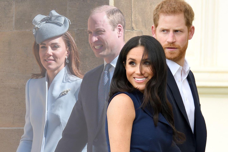 Kate, William, Meghan, Harry