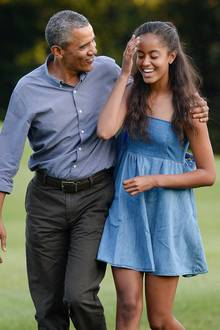 Barack Obama mit seiner Tochter Malia Ann Obama