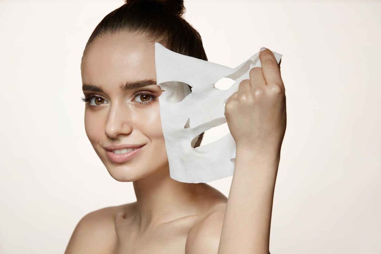 Tuchmaske, Gesichtsmaske, Maske, Gesichtsreinigung, Reinigungspflegeprodukt