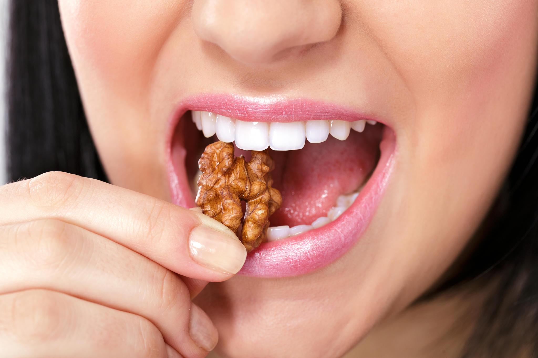 Nüsse sind gesund und halten schlank.