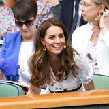 2. Juli 2019  Auch alleine gut gelaunt: Letztes Jahr hat sich Schirmherrin Herzogin Catherine noch neben Herzogin Meghan gezeigt.