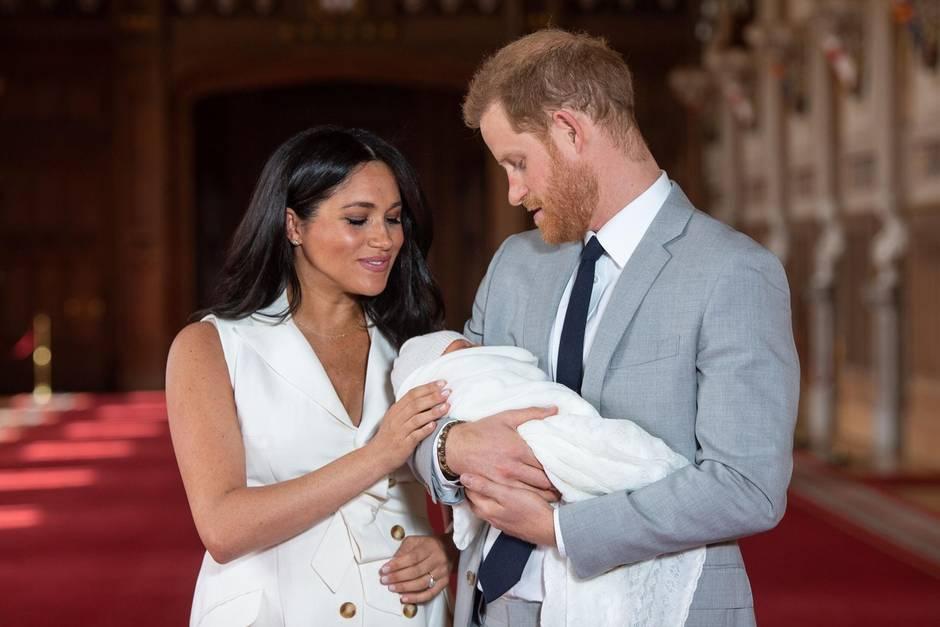 Herzogin Meghan, Prinz Harry undArchie Harrison Mountbatten-Windsor