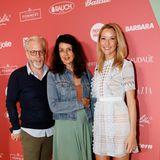 Jobst Schumacher (Philip Morris), Brigitte-Chefredakteurin Brigitte Huber und Iris Brand (Philip Morris)