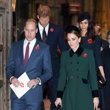 Prinz William, Herzogin Catherine, Prinz Harry undHerzogin Meghan