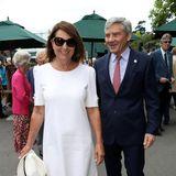 Einen Tag, nachdem ihre Tochter Herzogin Catherine in Wimbledon zu Gast war, zieht es nun auch Carole und Michael Middleton zum weltberühmten Tennisturnier.