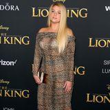 Im Leo-Look zum König der Löwen: Meghan Trainor wählt den wohl naheliegendsten Style aus.