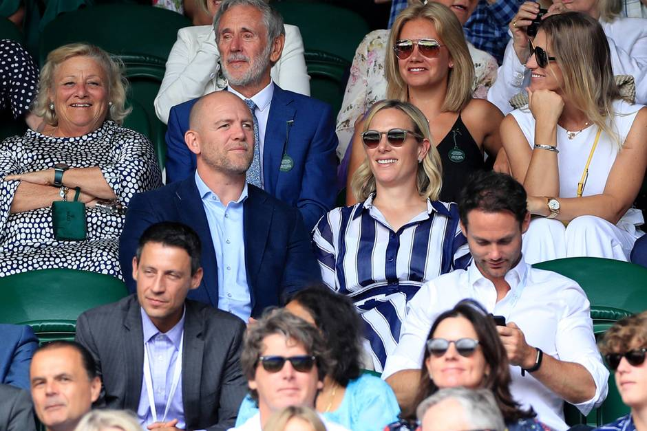 Mike und Zara Tindall in Wimbledon