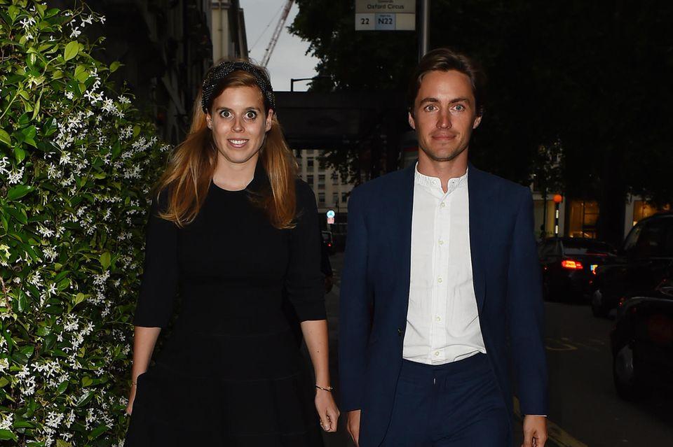 Prinzessin Beatrice undEdoardo Mapelli Mozzi bei eine Date-Night in London.