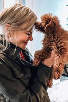 Darauf hat Nicole Kidman ihr Leben lang gewartet: Sie ist endlich stolze Hundebesitzern und offensichtlich mehr als glücklich darüber. Wie der süße Wuff heißt, ist noch nicht bekannt.
