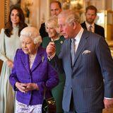"""5. März 2019  Es ist der große Tag von Prinz Charles. Seine Mutter, die Queen, hält eine Feier zu Ehren seines 50. Jubiläums als """"Prince of Wales"""" ab. Daher halten sichHerzogin Catherine und Herzogin Meghan eher im Hintergrund."""