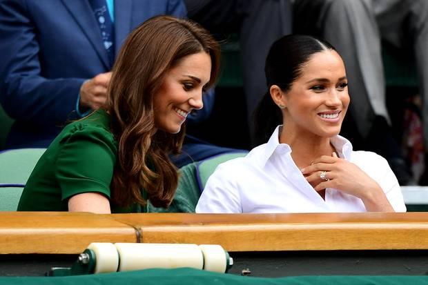 Herzogin Catherine und Herzogin Meghan in der Royal Box bei Wimbledon