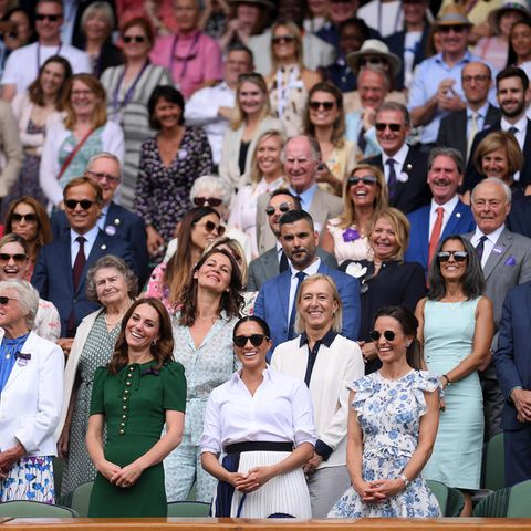 Die Royal Box in Wimbledon 2019