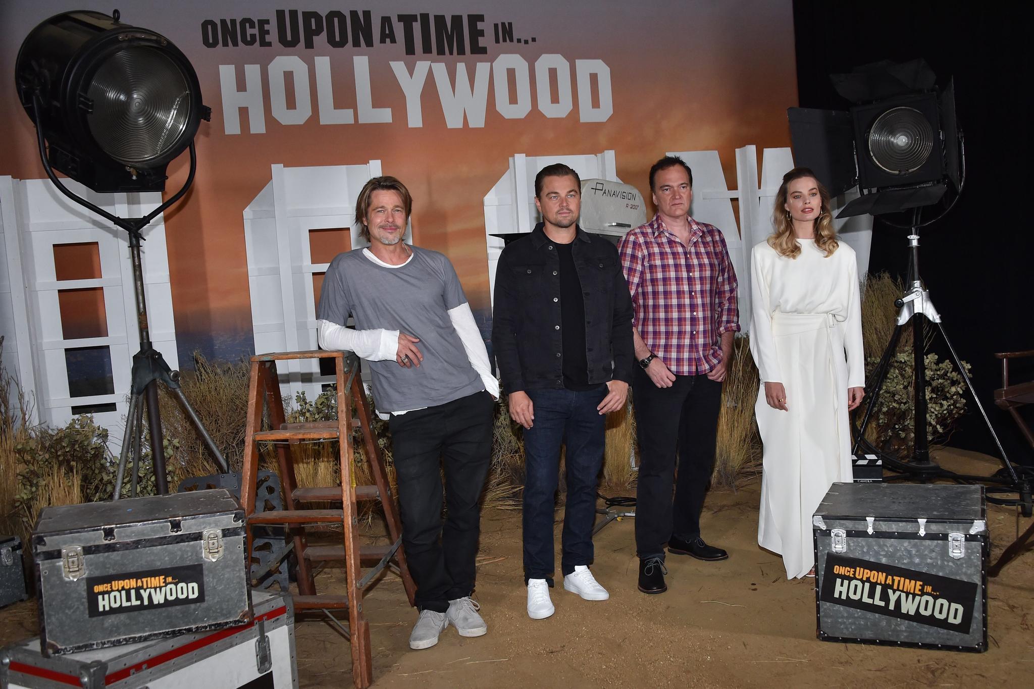 Brad Pitt, Leonardo DiCaprio,Quentin Tarantino and Margot Robbie