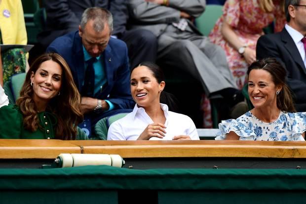 Kate, Meghan und Pippa zeigten sich beim Wimbledon-Finale der Frauen bestens gelaunt.