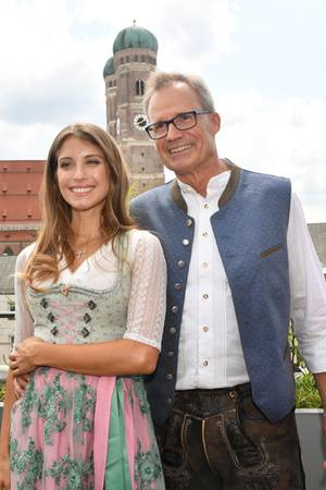 Cathy Hummels und Vater Alfred Fischer