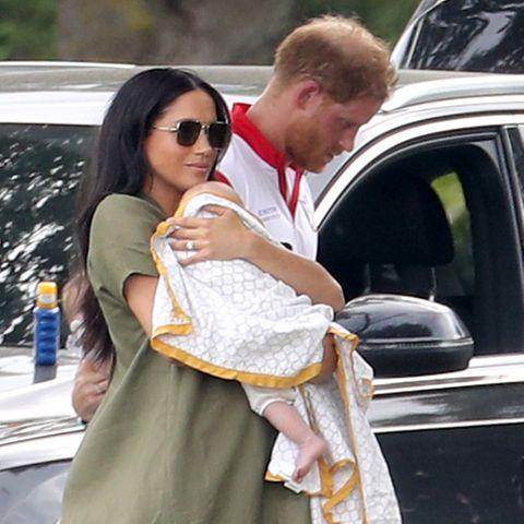 Herzogin Meghan mit Baby Archie und Prinz Harry