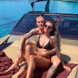 "31. Mai 2019  ""Zwillinge im Urlaub"", postet Sophia Thomalla aus Mykonos."