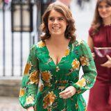 Beim Besuch der Westminster Abbey am Tag zur Abschaffung der modernen Skalverei in London, zeigt sich Prinzessin Eugenie von ihrer stilbewussten Seite. Sie trägt ein Blumenkleid in Grüntönen, das mit einem sexy Beinschlitz überzeugt.