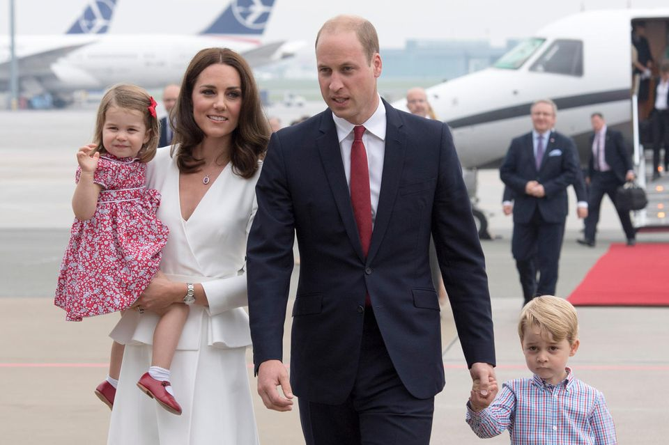 Prinzessin Charlotte, Herzogin Catherine, Prinz William und Prinz George