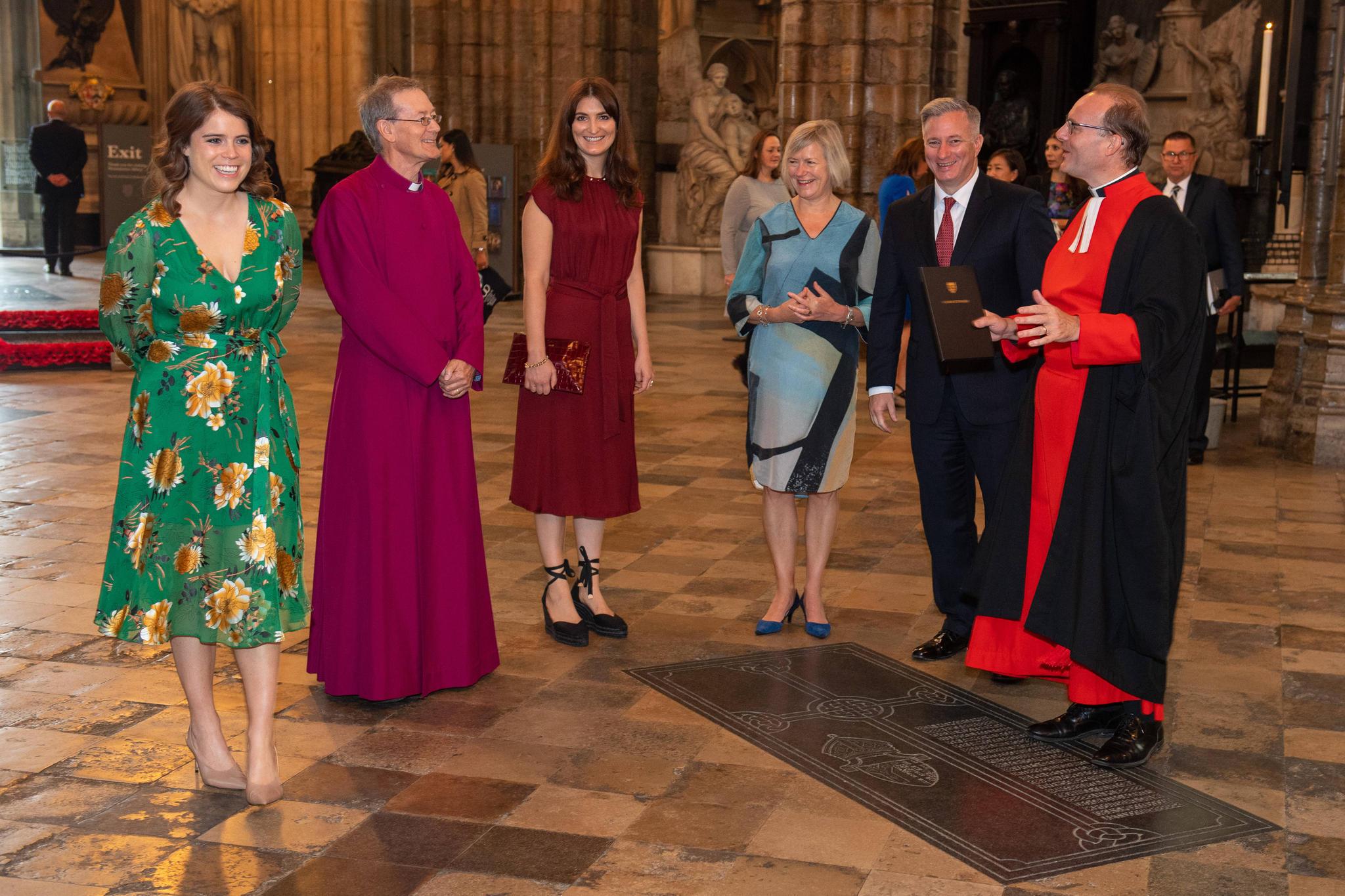 Prinzessin Eugeniebeim Besuch der Westminster Abbey am Tag zur Abschaffung der modernen Sklaverei in London.