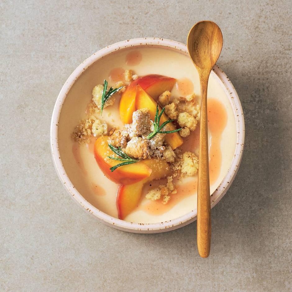 Mousse & Geschmortes vom Pfirsich