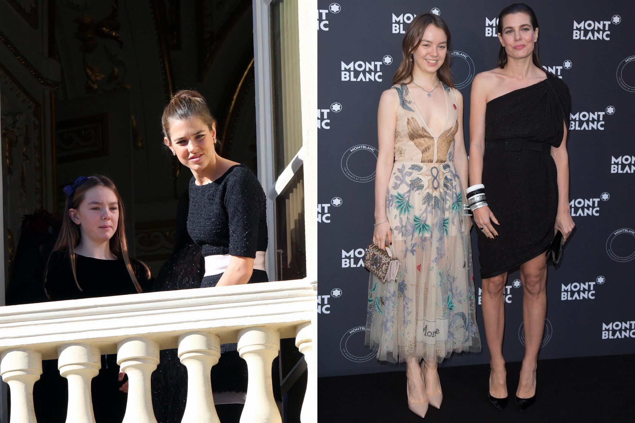 Als 11-Jährige steht Alexandra von Hannover noch im Schatten. Heute strahlt sie mindestens genauso schön wie ihre Halbschwester Charlotte Casiraghi.