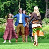 Die niederländischen Royals (v.l.n.r.): König Willem-Alexander und Königin Máxima mit ihren Töchtern