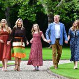 Die niederländischen Royals (v. l.): Prinzessin Catharina-Amalia, Königin Máxima, Prinzessin Ariane, König Willem-Alexander undPrinzessin Alexia