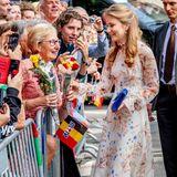 Die sympathische Kronprinzessin Elisabeth ist jetzt schon sehrbeliebt bei den Belgiern.