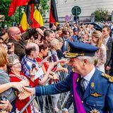 Viel Hände zu schütteln, gehört für den belgischen König selbstverständlich dazu.