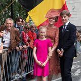 DieFans freuen sichüber die Nähe zu ihren Royals, Prinzessin Eleonore und Prinz Gabriel scheinen da noch etwas reservierter.