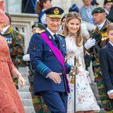 Lauter fröhliche Gesichter bei den belgischen Royals