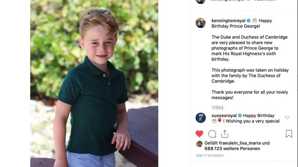 Prinz George: So gratuliern die Royals Prinz George zum Geburtstag