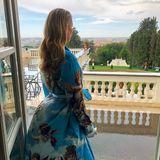Der Jetset geht weiter. Am Morgen kann Kitty Spencer den traumhaften Anblick Roms genießen.
