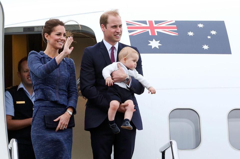 Herzogin Catherine, Prinz William und Prinz George