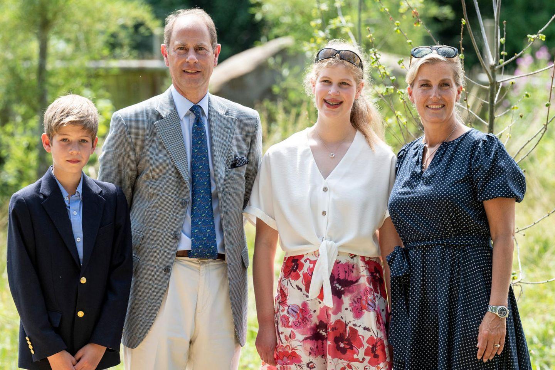 James, Viscount Severn, Prinz Edward, Lady Louise und Gräfin Sophie von Wessex