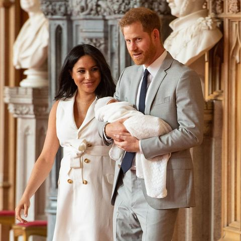 Archie Mountbatten-Windsor, Herzogin Meghan + Prinz Harry