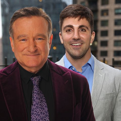 Robin Williams (†) und Cody Williams