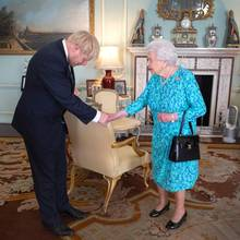 Boris Johnson und Queen Elizabeth