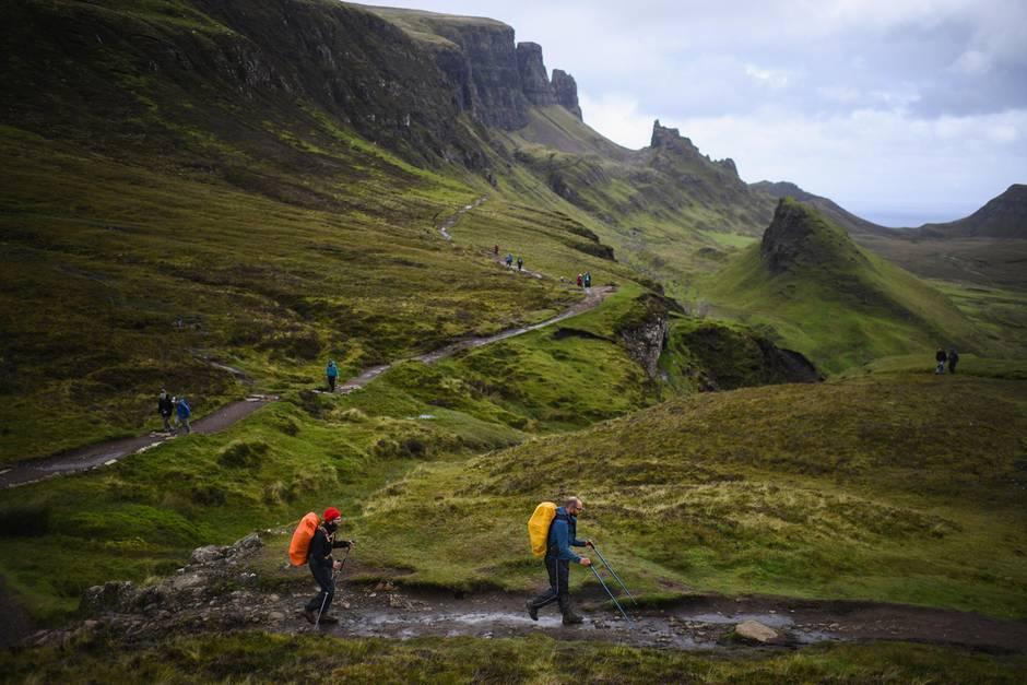 Wanderer auf der Isle of Skye