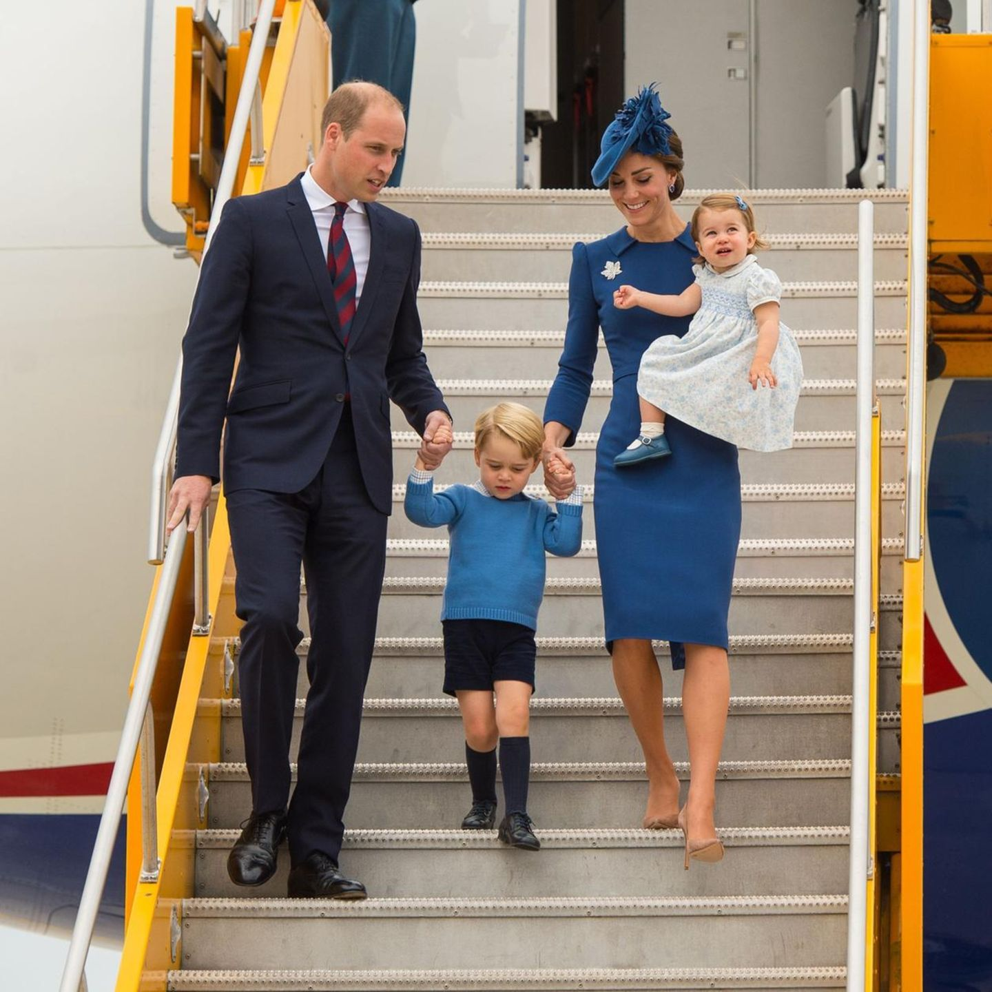 Die Cambridge-Familie (v.l.n.r.): Prinz William, Prinz George, Herzogin Catherine und Prinzessin Charlotte