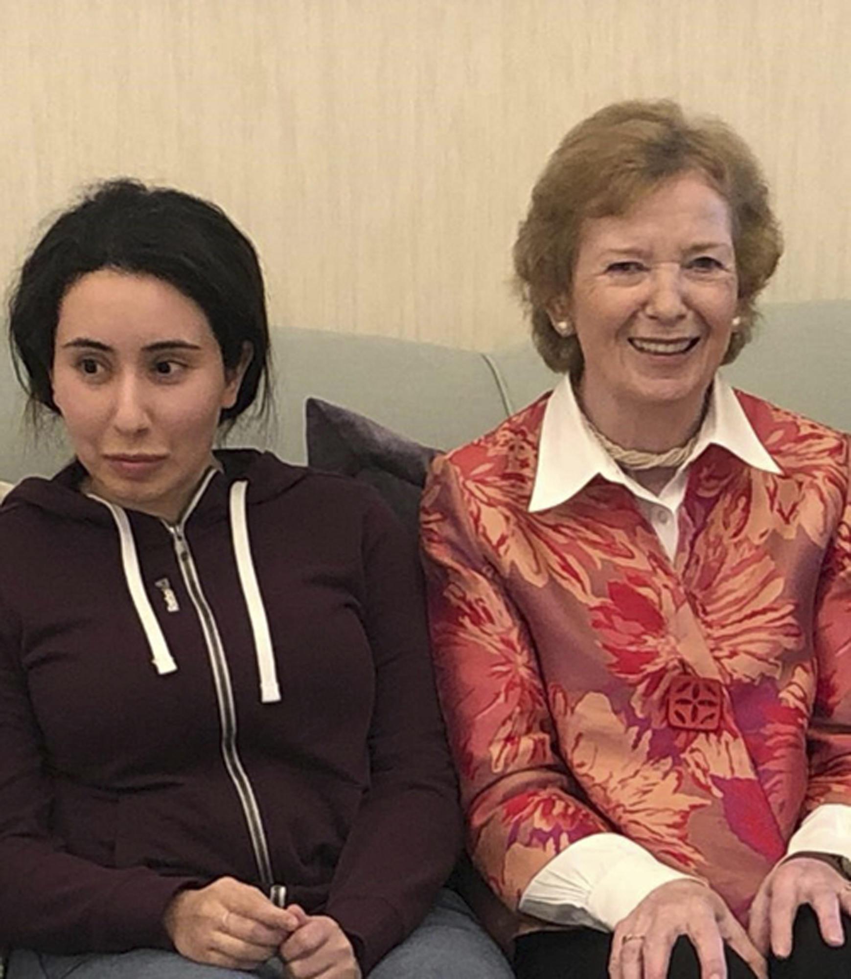 Prinzessin Latifa (r.) und Mary Robinson