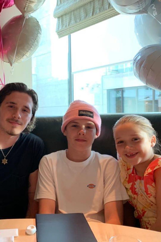 11. Juli 2019  Auf ihre großen Brüder Romeo, Brooklyn und Cruz kann sich Harper immer verlassen.