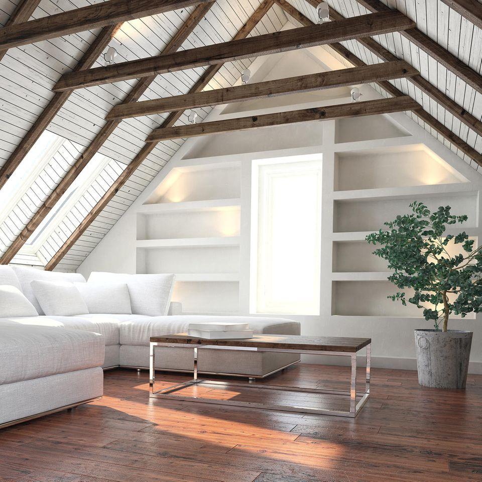 Dachschräge, Einrichtungstipps, Dachboden einrichten, Wohntipps