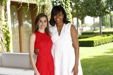 Königin Letizia und Michelle Obama