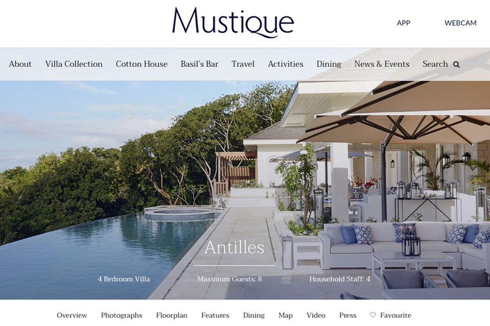 Villa Antilles auf Mustique