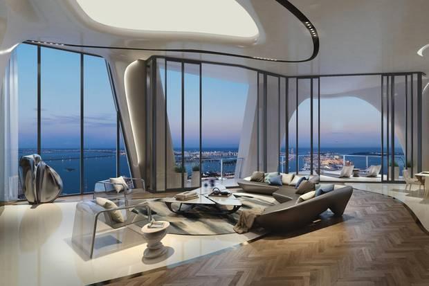 """Sieht so etwa das zukünftige Wohnzimmer der Beckhams aus? Fakt ist: Die futuristische Architektur zieht sich durch alle Räumlichkeiten des """"One Thousand Museums""""."""