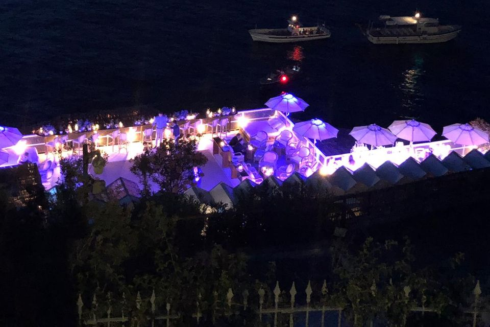 """Die Party-Location, das Restaurant """"Il Riccio"""",von Heidi Klum und Tom Kaulitz"""