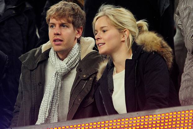 Sebastian Vettel und Hanna Sprater im Februar 2012.